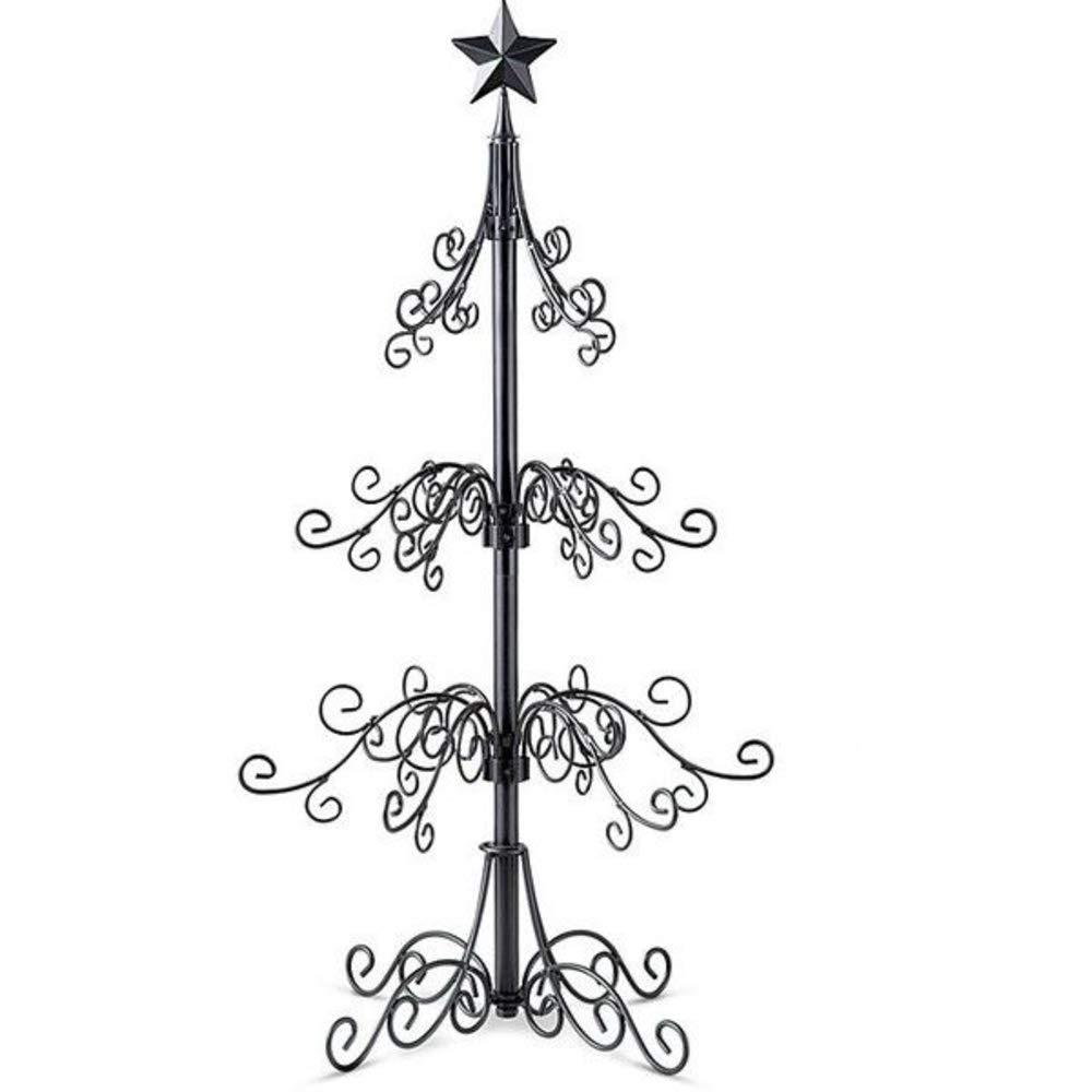 "BW Brands 36"" Christmas Ornament Tree - Black"