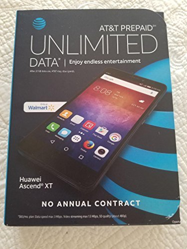 AT&T GoPhone Huawei Ascend XT Android Smartphone Cell Phone. Unlimited Talk, Text, and Data Usage. No Annual Contract.