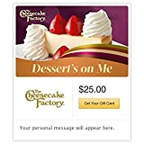 The Cheesecake Factory Dessert's on Me Gift Cards - E-mail Delivery