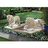 Garden Statue Decor Lion Sculptures Outdoor Indoor Ornament Home Patio Large Figurines African Wild Animal Decorative Ornament