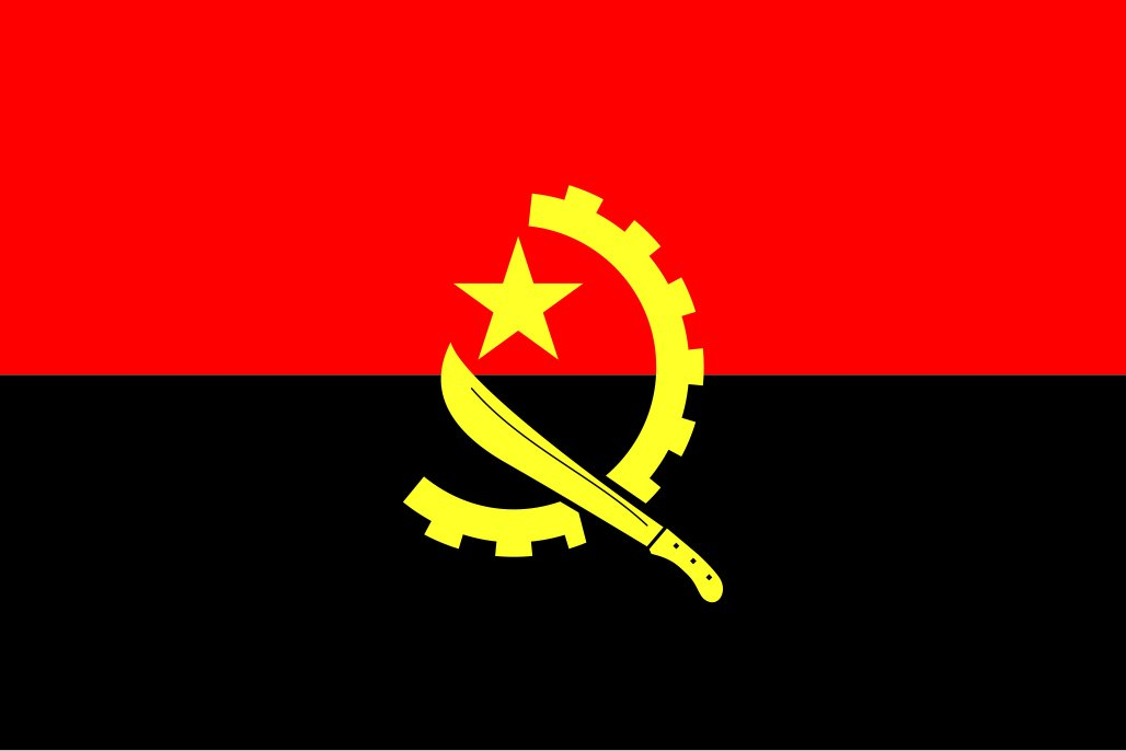 太田旗店 アンゴラ 国旗 地球にやさしい外国旗 (90×135cm) 90×135cm  B07BWGSLMP