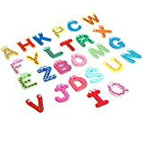 Kids toys colorful wooden refrigerator magnet alphabet A-Z Letters 26pcs