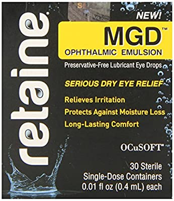 Retaine MGD Ophthalmic Emulsion Preservative-free Eye Drops 30 Single-dose Containers