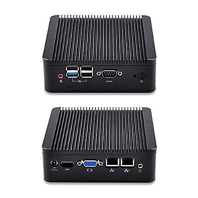 Kansung-K190S-S02 Fanless Nettop Computer Intel Quad Core J1900 (8GB Ram 1TB 2.5 inch HDD) 2 Gigabit Lan Windows/Linux