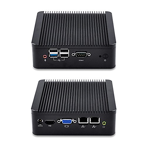 Qotom Mini Computer Q190S with celeron j1900 Processor Quad core 2.0 GHz, 8GB RAM 128GB SSD WIFI, Dual NIC Mini PC with Serial Port by Qotom