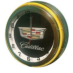Cadillac 19 Double Neon Clock