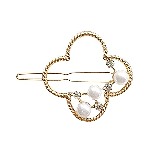 Osyard Faux Perle Haar Pins Dame Geometrische Haarspange