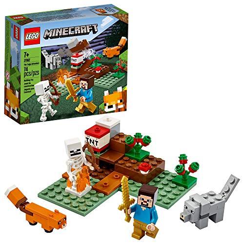 Kit de Construção Legal para Crianças LEGO Minecraft A Aventura em Taiga 21162 (74 peças)