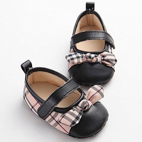 etrack-online Infant Baby Girl de Mary Jane Zapatos De Senderismo negro negro Talla:12-18months negro