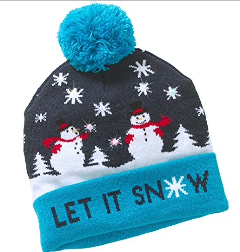 Hz Star Led Light Up Hat Beanie Knit Cap  Led Xmas Christmas Hat Beanie  Winter Snow Hat Sweater Ugly Holiday Hat Beanie Cap  Holiday Skull Cap
