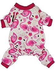 Fitwarm Flamingo Pet Clothes for Dog Pajamas PJS Shirts Jumpsuit Pink XL