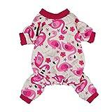 Fitwarm Flamingo Pet Clothes for Dog Pajamas PJS Shirts Jumpsuit Pink Small