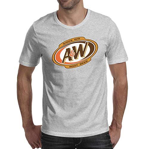 (ORYSJDGTS Short Sleeve T-Shirts Men's A&W-Root-Beer-Logo- Vintage Top)
