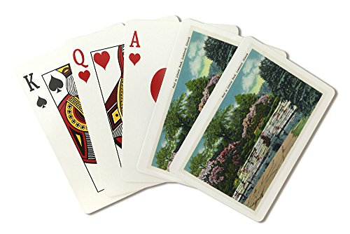 - Lombard, Illinois - Lilacia Park; View of a Pool in the Park (Playing Card Deck - 52 Card Poker Size with Jokers)