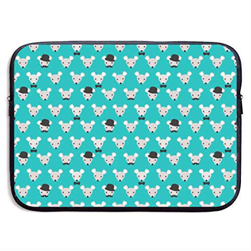 - YanHill Laptop Sleeve Bag Case Waterproof Neoprene Hipster Mice Cute Mustache Wearing Mouse Protective Carrying Cover Compatible 13 Inch MacBook Pro, MacBook Air, Notebook Computer