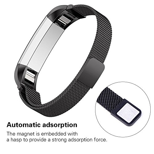 Tecson Metal Bands Compatible Fitbit Alta and Alta HR and Ace, Stainless Steel Milanese Loop Replacement Strap with Magnet Lock for Fitbit Alta HR and Alta and Ace, Small