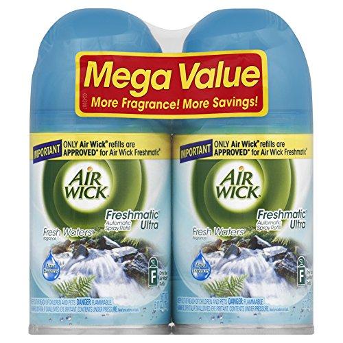 Air Wick Freshmatic Automatic Spray Air Freshener, Fresh Waters, 2 Refills,