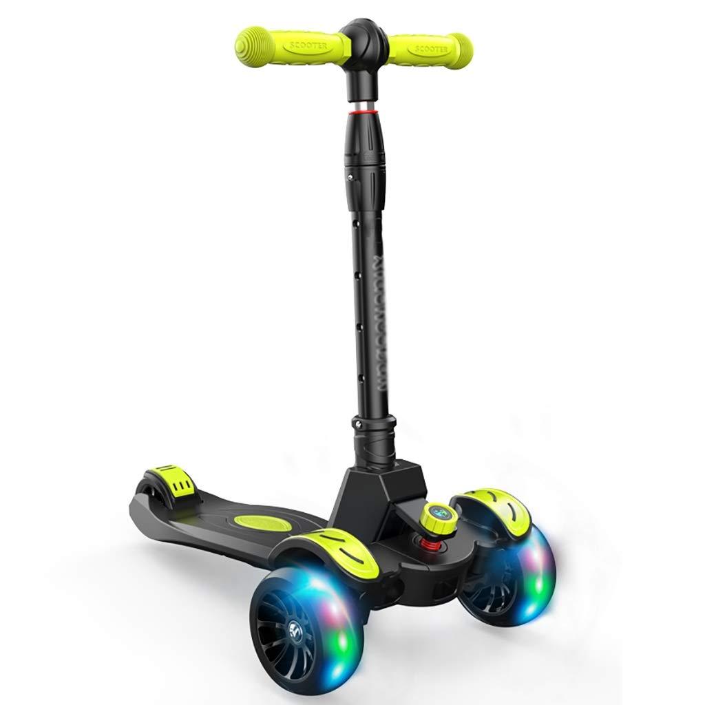 子供のための3輪スクーター - - PU点滅ホイール、折りたたみ式デザイン B07QX4Q8XB、調節可能なハンドル B07QX4Q8XB, HOMES:401ded8c --- wap.bellavitta4.dominiotemporario.com