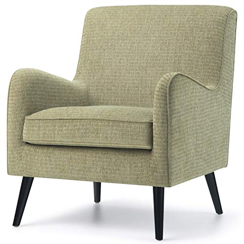 Simpli Home AXCCHR-014-PG Dysart 28 inch Wide Mid Century Modern Arm Chair in Pear Green Fabric by Simpli Home