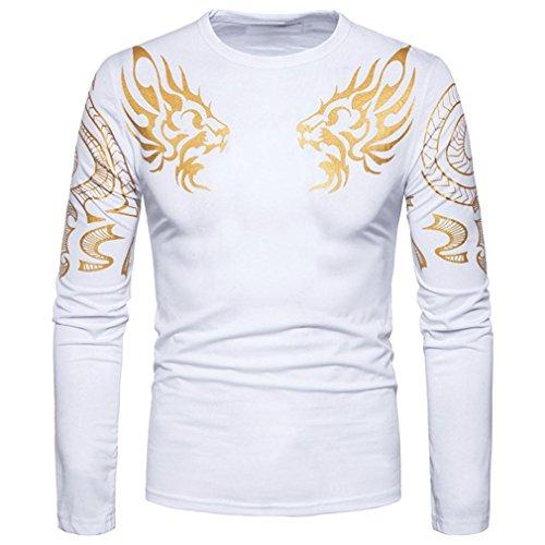 Men's Long Sleeve Blouse,Jushye Mens Casual Shirt Slim Fit T Shirt V Neck Patchwork Tops (S, (V/h/s Halloween Party)