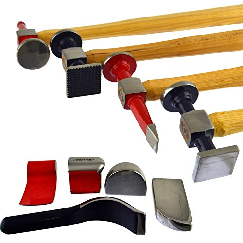 Auto body Repair Kit Panel Beating Hickory Hammers Dollies Shrinking Moulding 9pc by AB Tools-Neilsen (Image #1)