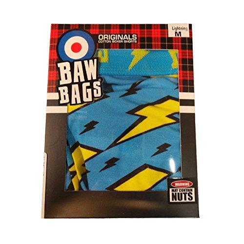 Bawbags Lightning Boxer Shorts - Blue -Medium