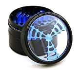 4 herb grinder - Chromium Crusher 2.5 Inch 4 Piece Tobacco Spice Herb Grinder - Pick Your Color (Windmill Teeth, Black)