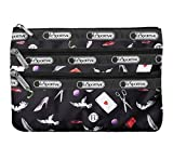 LeSportsac Boxed 3 Zip Cosmetic (Love Letters)