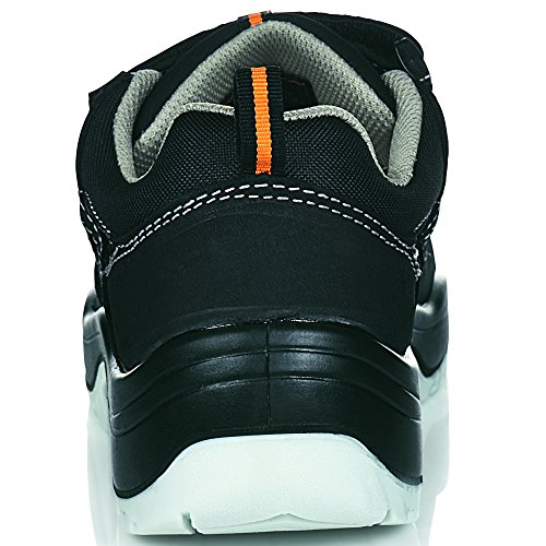 """ruNNex 5100-49 Sandale de sécurité """"TeamStar"""" S1 Taille 49 Noir/Orange"""