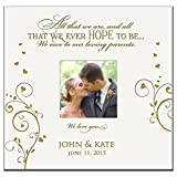 Personalized Photo Album for Wedding or Anniversary All That We Are and All That We Ever Hope to Be We Owe to Our Loving Parents Custom Engraved Photo Book Holds 200 4x6 Photos
