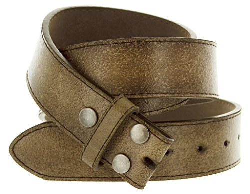 - Classic Vintage Distressed Casual Jean Leather Belt Strap (M(33