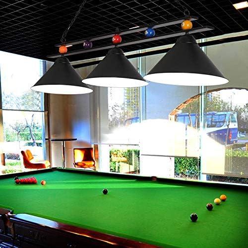 NIUYAO - Lámpara de techo colgante para mesa de billar con 3 luces ...
