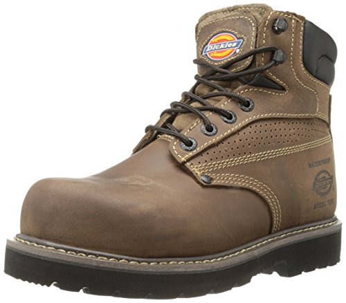 Dickies Men's Breaker Steel-Toed Work Boot,Brown,10.5 Medium ()