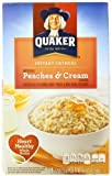 Quaker Instant Oatmeal Peaches & Cream, 10-Count Boxes (Pack of 4) by Quaker Oatmeal [Foods]