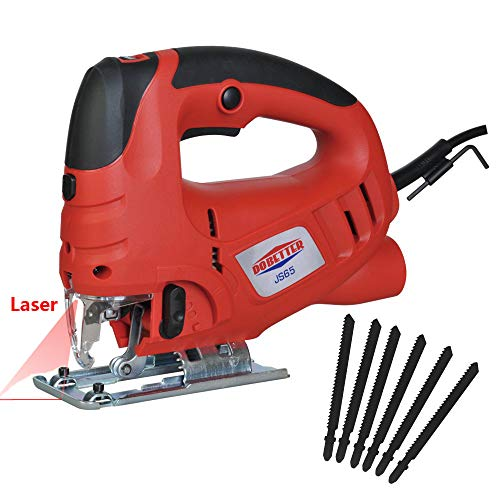 Dobetter Jig Saw for Woodworking Variable Speed Jigsaw Tool 6.5Amp Saber Saw with Laser and 6-Pieces Blades -JS65 ()