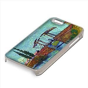 Van Gogh - The Anglois Bridge At Arles The Drawbridge, Custom Claro PC Ultradelgado Caso Duro Carcasa Funda Protección Tapa Hard Case Cover Shell con Diseño Colorido para Apple iPhone 5 5S.