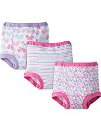 Gerber Baby Toddler Girl Training Pants,Pastels Pinks, 3-Pack, 2T