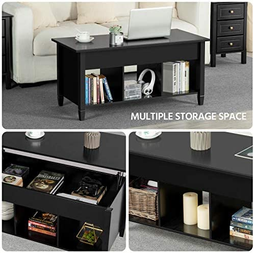 home, kitchen, furniture, living room furniture, tables,  coffee tables 10 picture Yaheetech Lift Top Coffee Table with Hidden Compartment promotion