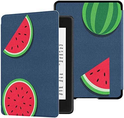 Carcasas y Fundas para Kindle 2018 Paperwhite La sandía Azul Tiene Semillas y roscas Fundas para Lector electrónico Kindle Paperwhite para 2018 Carcasa con activación/Reposo automático Carcasa Kin