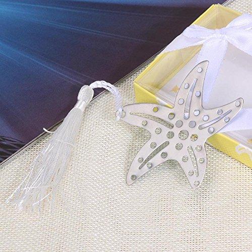 (Leo-4Beauty - Metal Tassel Sea Star Bookmark Starfish Shaped Book Mark Marcapaginas Accessories Birthday Wedding Gifts Office Papelaria)