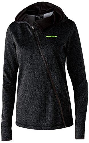 (Ouray Sportswear NCAA Oregon Ducks Women's Artillery Angled Jacket, Medium, Black Heather )