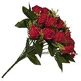 ALEKO-F18HRR-Artificial-145-Inch-18-Heads-Silk-Red-Rose-Flower-Bouquet
