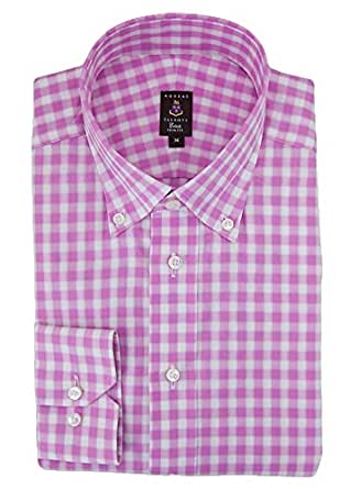 Robert talbott pink check estate dress shirt xl at amazon for Robert talbott shirts sale