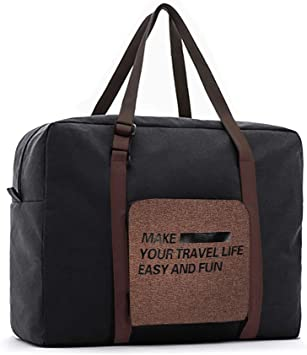 Grey Lesige Foldable Duffel Travel Bags 32L Collapsible Portable Travel Bag for Travel Case