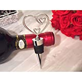 Classic Two Hearts Become One Bottle Stopper - 72 Pieces