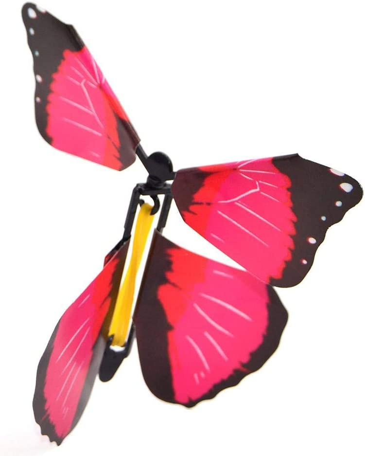 Millster Fly Paper Wind Up Toys Boomf Flutter Butterfly Cards-Flying