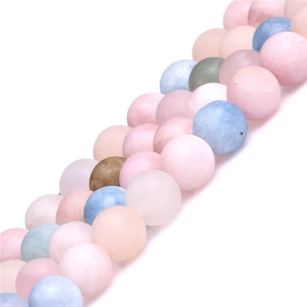 """Natural Multi Color Moonstone Frosted Matte Stone Beads For Jewelry Making 15/"""""""