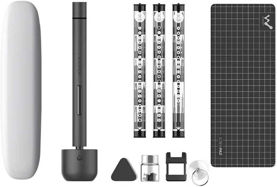 Ingeniously Mini Destornillador eléctrico, Kit de Destornillador inalámbrico Recargable Wowstick 1F Pro para teléfono móvil