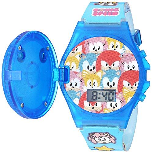 Sonic the Hedgehog Kids' SNC4012 Digital Display Quartz Blue Watch]()