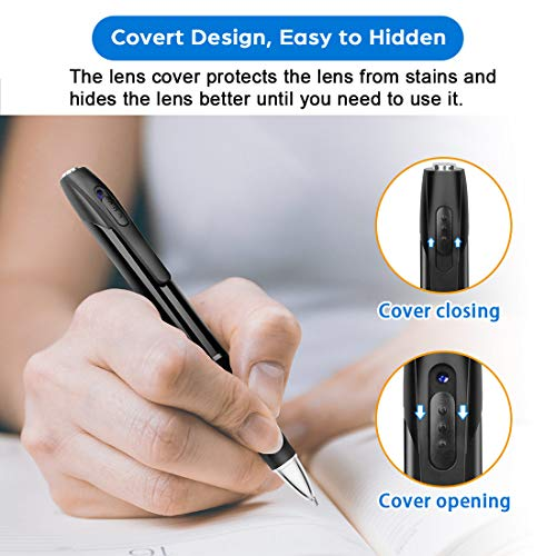 Hidden Spy Camera, Vansor 1080P Mini Cameras Pen, Nanny Spy Gadgets with Photo Taking, 2.5 Hours Battery Lift, Portable Pen with 32GB Memory and 5 Ink Refills Spy Gadgets for Business and Conference